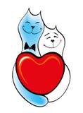 kotów dzień rysunku miłości miłość valentine Zdjęcie Stock
