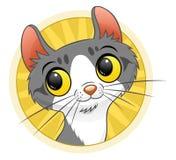 12 kotów kuzia o portret senior y ilustracja wektor