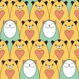 kotów psów wzór Zdjęcie Royalty Free