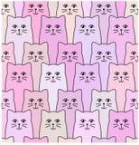 Kotów wzory obraz stock