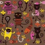 kotów zabawy wzór Zdjęcia Stock
