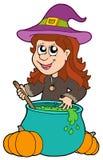 kotła dziewczyny czarownik ilustracji