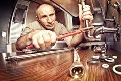 kotłowego hydraulika obsługowa praca Fotografia Stock