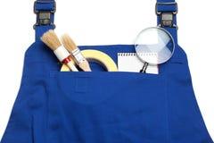 Kotłowego kostiumu pojęcie, Szukający dla Przydatnego mężczyzna, powiększa - szkło Fotografia Royalty Free