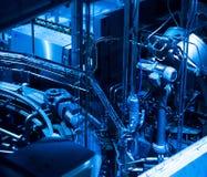 kotłowych wyposażenia grzejnych manometrów nowożytna rurociąg pompowego pokoju systemu klap woda Rurociąg, pompa wodna, klapy, ma zdjęcie stock