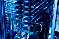 kotłowych wyposażenia grzejnych manometrów nowożytna rurociąg pompowego pokoju systemu klap woda Rurociąg, pompa wodna, klapy, ma obrazy stock