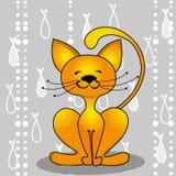 kot łowi czerwień Obraz Royalty Free