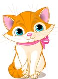 kot śliczny bardzo royalty ilustracja