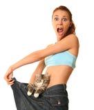 kot śmieszny Zdjęcia Royalty Free