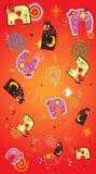 kot abstrakcyjne tło Obrazy Royalty Free