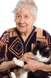 kot biała kobieta odosobniona stara Obrazy Royalty Free