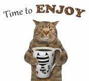 Kot chce pić kawę 2 royalty ilustracja