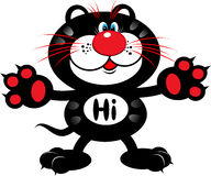 kot cześć Zdjęcia Royalty Free