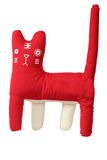 Kot czerwona szczęśliwa zabawka Zdjęcie Royalty Free