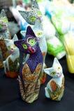 kot dekoracje ceramiczne zdjęcia royalty free