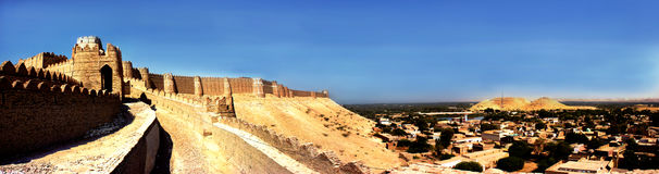 Kot Digi Fort - Khairpur, Sindh, Pakistan. The Kot Diji Fort, a massive hilltop fortress constructed by Tālpur ruler Sohrāb Khān in the early 19th century Stock Image