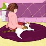 kot dziewczyna Zdjęcie Stock