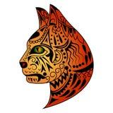 Kot głowy tatuażu projekt Zdjęcie Stock