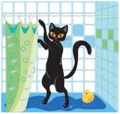 Kot i kaczka royalty ilustracja