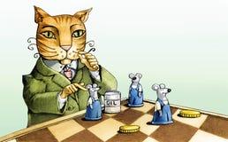 Kot i myszy Zdjęcie Stock