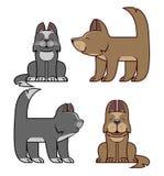 Kot i pies jesteśmy przyjaciółmi Ilustracja Wektor