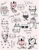 Kot ilustracje ilustracji