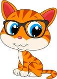 Kot jest ubranym eyeglasses ilustracja wektor