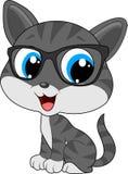 Kot jest ubranym eyeglasses royalty ilustracja