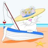 Kot jest ubranym kapelusz ilustracji