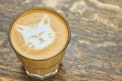 Kot kawy sztuka Obrazy Royalty Free