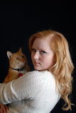 kot kobieta fotografia royalty free