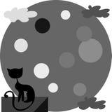 kot księżyc Zdjęcia Stock
