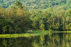 7 kot Lake side. Beautiful 7 Kot Lake side in Saraburi Province,Thailand stock images