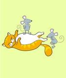 kot mysz royalty ilustracja