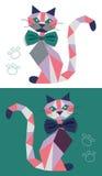 Kot od geometrycznych postaci royalty ilustracja