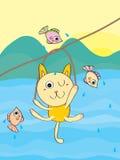 Kot przygoda ilustracja wektor