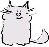 kot przyjacielski Fotografia Royalty Free