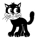 kot retro ilustracji