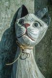 Kot rzeźbiący Zdjęcia Royalty Free