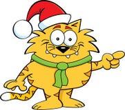 Kot Santa Zdjęcie Stock