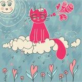 kot szczęśliwy royalty ilustracja