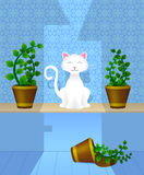 kot szczęśliwy ilustracja wektor