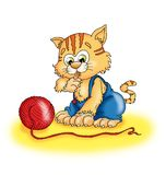 kot trochę royalty ilustracja