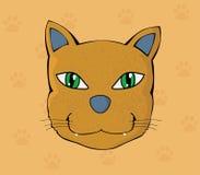 Kot twarz ilustracji