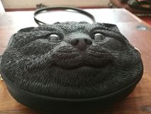 Kot twarzy torba zdjęcie stock