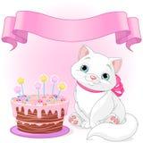 Kot Urodzinowa odświętność Obraz Stock