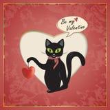 Kot walentynka ilustracji