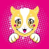 Kot, wektorowa ilustracja, ręka rysujący chłodno kot Zdjęcie Royalty Free