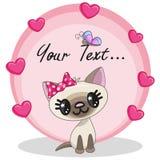 Kot z sercami ilustracji