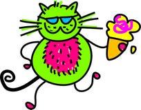 kota śmietanki lód royalty ilustracja